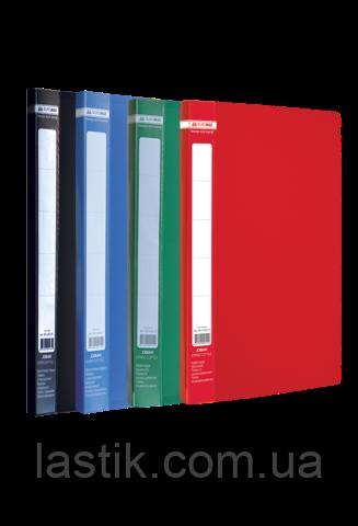 Папка пластиковая боковым прижимом, JOBMAX, A4, ассорти