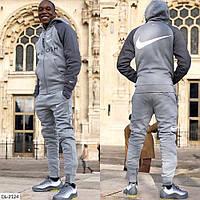 Мужской спортивный костюм цвет серый