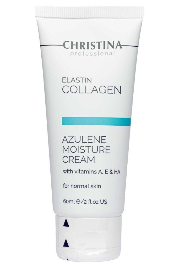 """Увлажняющий крем для нормальной кожи """"Эластин, Коллаген, Азулен"""" Elastion Collagen Azylene Moisture Cream,60мл"""