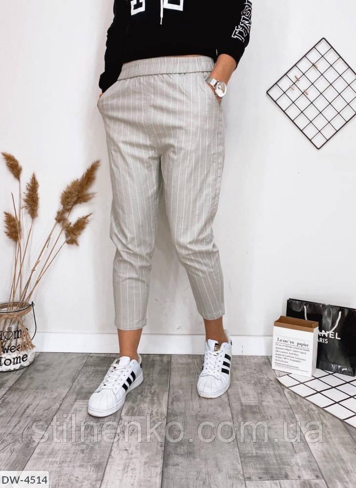Женские укороченные штаны с карманами
