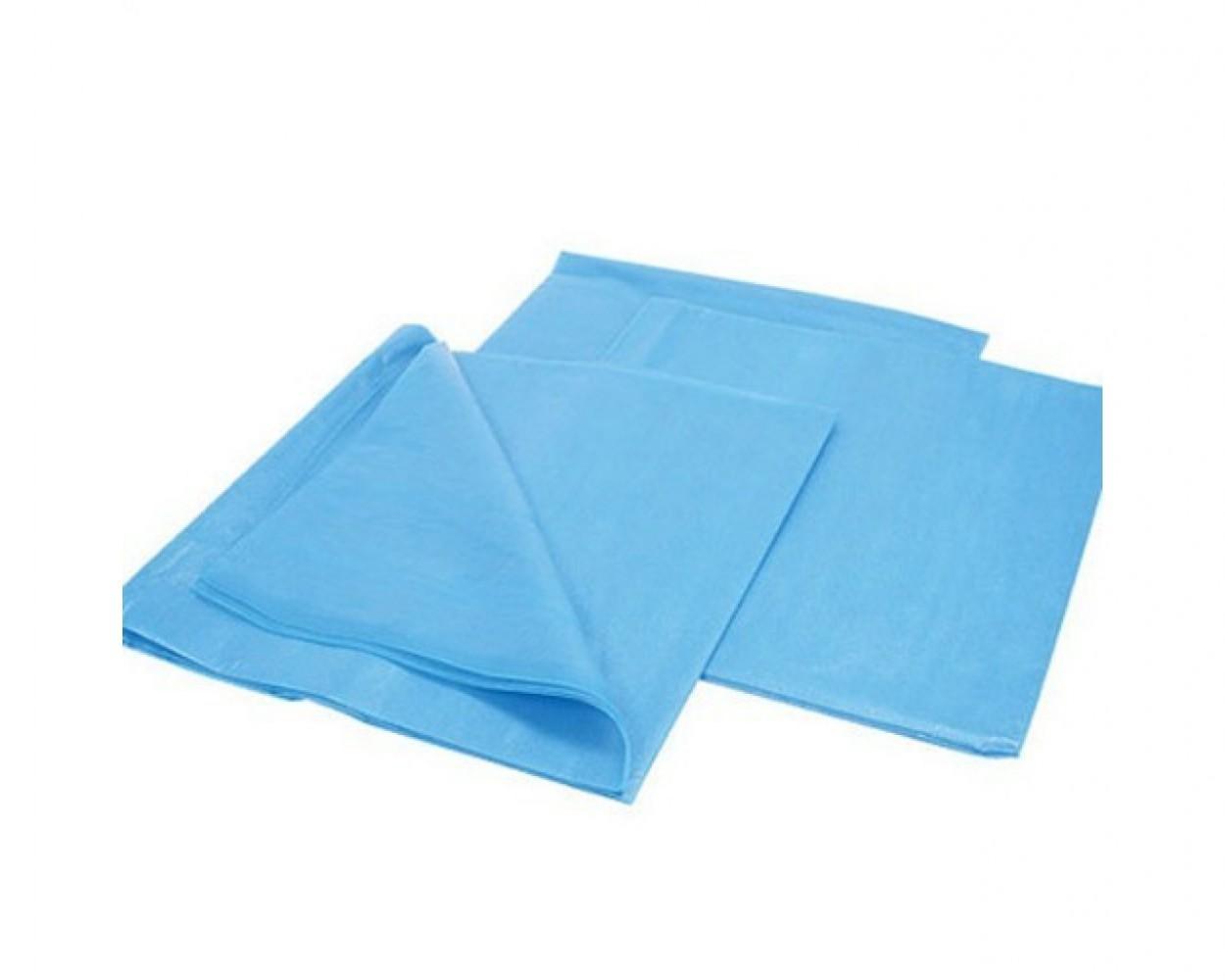 Салфетки-нагрудники медицинские, стоматологични 3-х слойные 45 * 32 см (125 шт/уп) , голубые