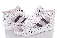 Кеды кроссовки женские летние белые сетка Desun,размеры 36
