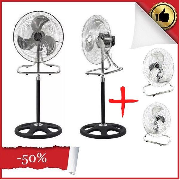 Вентилятор BITEK 3в1 настольный напольный настенный из металла 60 Вт три скорости Original Чёрно-серый