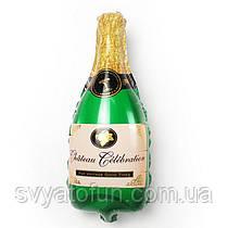 Фольгированный шар мини-фигура Шампанское 38х20см Китай