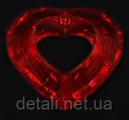 Бусина сердце грани красное H28мм. W28мм. Уп.примерно 174шт.