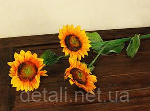 Искусственные цветы подсолнух на ветке 3шт.