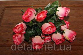 Искусственные цветы роза белая букет 11шт.