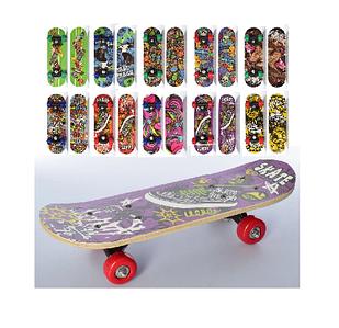 Скейт пласт. (Пени, подвеска, колеса ПУ, 10 цвет.) Арт. MS 0324-4