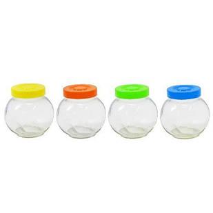 Набор банок стеклянных для сыпучих 4шт / наборе (4810)