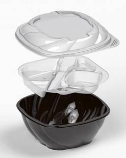 Коробка пластиковая ЧЕРНАЯ 1500 мл IT-5075 (В / Р 16 * 16см, с / Р 18 * 18см, высота = 8,8см) 250 шт. / Ящ