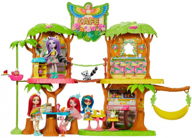 Набор Энчантималс Кафе Джанглвуд Попугайчика Пикки / Enchantimals Junglewood Cafe Playset with Peeki Parrot