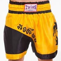 Шорты для тайского бокса и кикбоксинга TWN ZB-6138 (полиэстер, р-р M-XL (46-52), цвета в ассортименте) Код ZB-6138