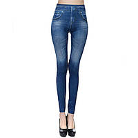 Леггинсы под джинсы корректирующие фигуру женские S Синий
