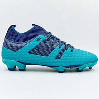 Бутсы футбольная обувь с носком 181239-3 CYAN/NAVY размер 40-45 голубой-темно-синий Код 181239-3