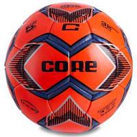 Мяч футбольный №5 PU ламин. CORE HI VIS3000 CR-017 (№5, 4 сл., сшит вручную, красный) Код CR-017