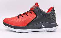 Кроссовки баскетбольные Jordan F828-1 размер 41-45 красный-черный Код F828-1