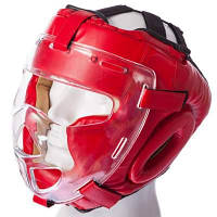 Шлем для единоборств с прозрачной маской FLEX MA-0719 (р-р М-XL, цвета в ассортименте) Код MA-0719