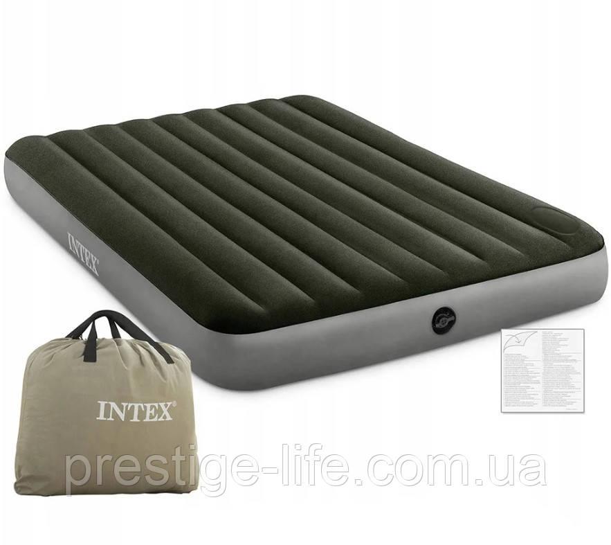 Надувний матрац Intex 64763 (203*152*25 см), з ножним насосом