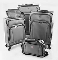 Набор чемоданов для путешествий Stenson 20/24/28 5 штук в наборе (74-5) цвет черный