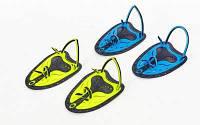 Лопатки для плавания гребные TP-200 (пластик, резина, р-р S, L, желтый, синий, салатовый) Код TP-200