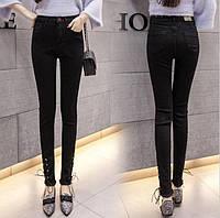 Черные узкие джинсы женские в обтяжку
