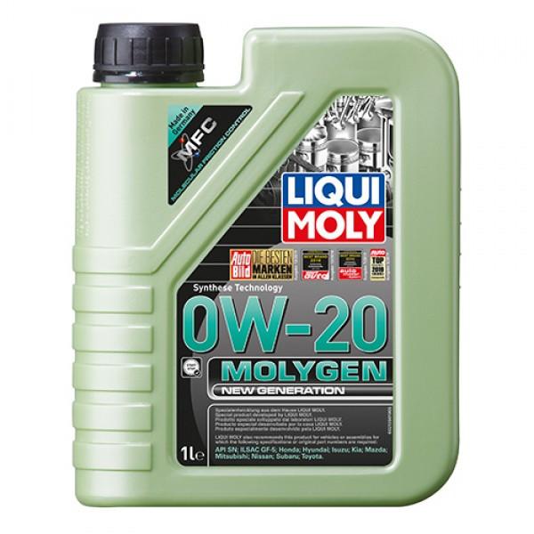 Синтетическое моторное масло Liqui Moly Molygen New Generation 0W-20  1 л.