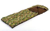 Спальный мешок одеяло с капюшоном камуфляж UR SY-4798 (320г на м2, р-р 190+30х75см, от +5 до-17) Код SY-4798