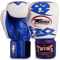 Перчатки боксерские кожаные на липучке TWINS FBGVL3-28 (р-р 12-16oz, цвета в ассортименте) Код FBGVL3-28