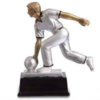Статуэтка (фигурка) наградная спортивная Боулинг Боулингист HX2880-A11 (р-р 17х7х20см) Код HX2880-A11