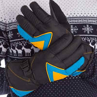 Перчатки горнолыжные теплые A-63 (р-р M-L, L-XL , уп.-12пар, цена за 1пару, цвета в ассортименте) Код A-63