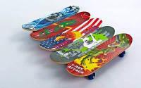 Скейтборд Mini в сборе (роликовая доска) SK-4932 (колесо-PVC, р-р деки 60х15х1,2см, 808Z, пласт.под) Код SK-4932
