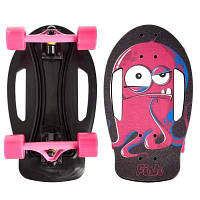Скейтборд пластиковый FISH Nemo 17in SK-420-3 (PC, ABEC-7, колесо PU 60x45мм 82А, черный-красный) Код SK-420-3