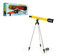 Телескоп детский 6609A штатив, увеличение в 60 раз, 3 цвета, кор., 62-22-8 см.