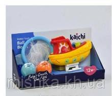 Іграшка для купання Водоспад Кораблик з баскетболом, на присосках