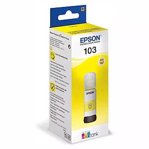 Чернила для EPSON  L1110 принтера, желтые краски, оригинальные, контейнер * 70 мл .(OEM-EPSON-L1110-Y-70)