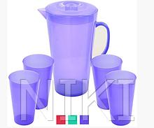 Набір склянок та графін пластиковий, R82324