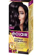 "Фарба для волосся Éclair з маслом ""OMEGA 9"" 36 Баклажан"