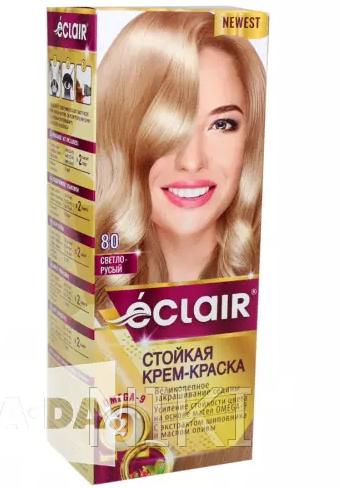 """Краска для волос Éclair с маслом """"OMEGA 9"""" 80 Светло-русые"""
