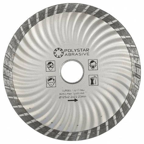 Круг алмазный отрезной TURBO Polystar Abrasive d-125 мм, фото 2