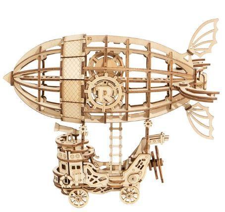 Деревянный 3D конструктор Rokr Robotime - Дирижабль - 176 деталей