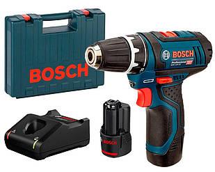 Акумуляторна дриль-шуруповерт Bosch GSR 12V-15 + з/у GAL 1230 CV + 2 акб GBA 12V 2 Ah + валіза (0601868122)