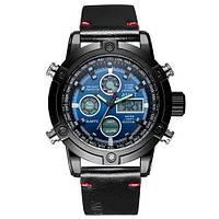 AMST 3022 Black-Blue Smooth Wristband, фото 1