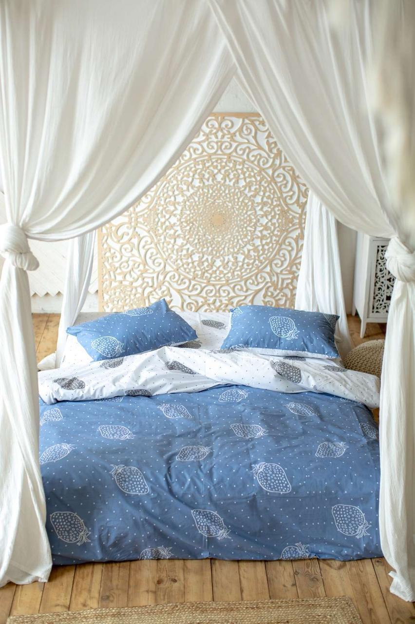 Комплект постельного белья Prestige Клубнички синий полуторный SKL29-250692