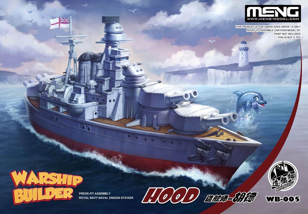 WARSHIP BUILDER - HOOD. Сборная модель мультяшного корабля (сборка без клея). MENG MODEL WB-005