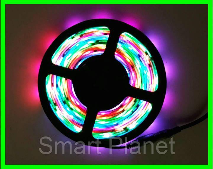 Разноцветная LED Лента 5 Метров с Блоком Питания (Уличная Гирлянда)