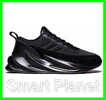 Кроссовки Adidas $harks Мужские Адидас Чёрные Акула (размеры: 41,42,43,44,45) Видео Обзор