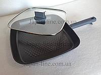 Сковорода-гриль с крышкой Meisterklasse MK-1038-30 grey diamont 30 см.