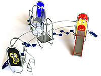 Спортивно-игровой Комплекс для детской площадки Париж детская горка, подъем для скалолазания 520х470х190 см