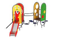 Спортивно-игровой Комплекс для детской площадки Прага, детская горка, подъем для скалолазания 350х230х190 см