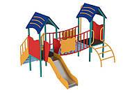 Спортивно-игровой Комплекс для уличной площадки с горкой и лесенками для детей 3-6 лет Нежность 288х252х196 см
